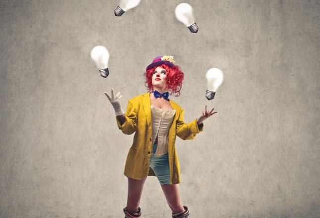 Joggling Clown